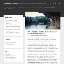 SNT – 2020-2021. S02E02 – Comment circulent les données sur Internet 1/3 – Gilles Boudin – Le Bihan