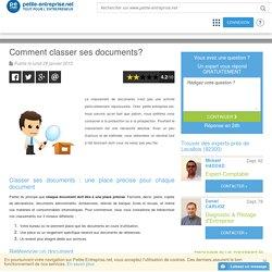 Comment classer ses documents?