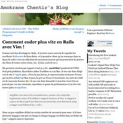 Comment coder plus vite en Rails avec Vim ! « FIX YOUR CODE