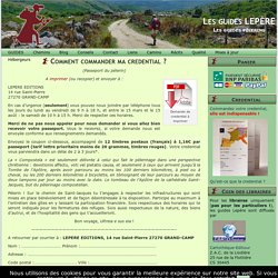 Comment commander ma credential