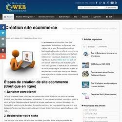 Comment créer un site e-commerce mettre une boutique en ligne