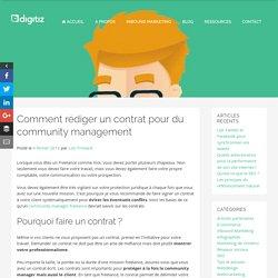 Comment rédiger un contrat pour du community management