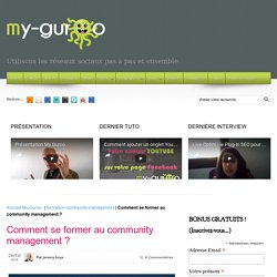 Comment se former au community management ?