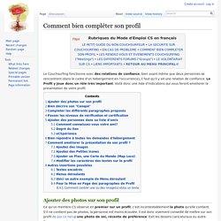 Comment bien compléter son profil - Couchwiki.org