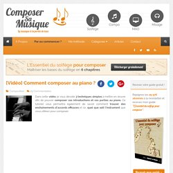 Comment composer au piano