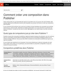 Comment créer une composition dans Publisher - Lync
