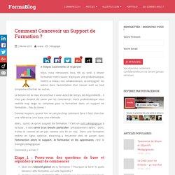 Comment Concevoir un Support de Formation ? - FormaBlog