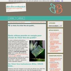 Comment connaître la pureté d'un gel d'Aloe Vera?