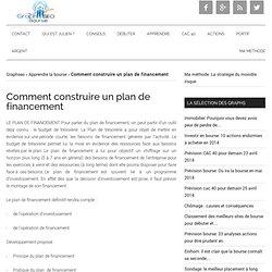Comment construire le plan de financement