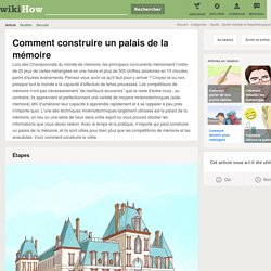 Comment construire un palais de la mémoire: 11 étapes