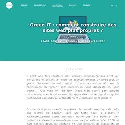 Green IT : comment construire des sites web plus propres ?