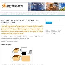 Comment construire un four solaire avec des caisses de carton