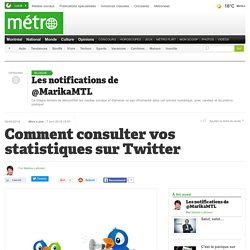 Comment consulter vos statistiques sur Twitter