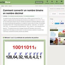 Comment convertir un nombre binaire en nombre décimal