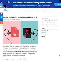 Comment Convertir PDF en MP3