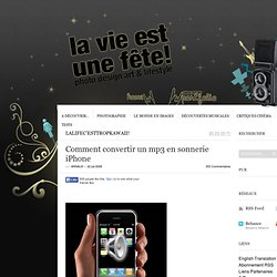 Comment convertir un mp3 en sonnerie iPhone
