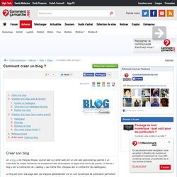 Choisir un hébergeur de blog et créer son blog