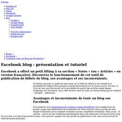 Comment créer un blog sur Facebook ?