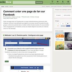 Comment créer une page de fan sur Facebook
