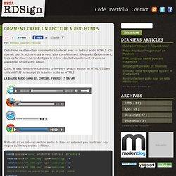 Comment créer un lecteur audio HTML5