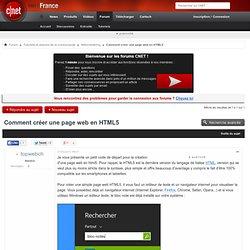 Comment créer une page web en HTML5
