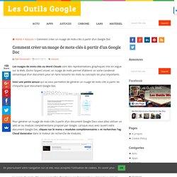 Comment créer un nuage de mots-clés à partir d'un Google doc