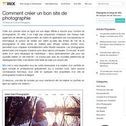 Comment créer un bon site de photographie - Wix.com