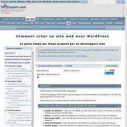 Comment créer un site web