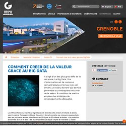 Comment creer de la valeur grace au Big Data