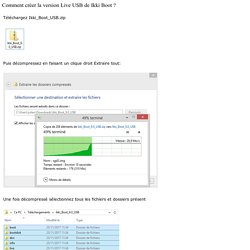 Comment créer la version Live USB - Ikki Boot