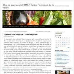 Blog de cuisine de l'AMAP Belles Fontaines de la vallée