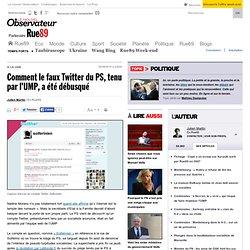 Comment le faux Twitter du PS, tenu par l'UMP, a été débusqué