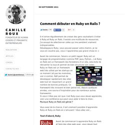 Comment débuter en Ruby on Rails ? par