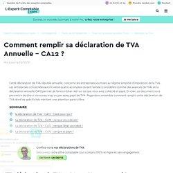 Comment remplir sa déclaration de TVA Annuelle - CA12 ?