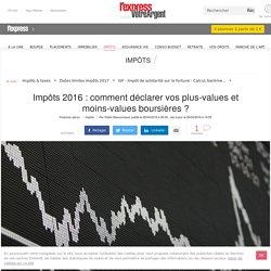 Impôts 2016 : comment déclarer vos plus-values et moins-values boursières ?