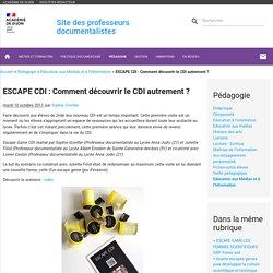 ESCAPE CDI : Comment découvrir le CDI autrement ?