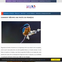 Comment décrire une photo en français ~ Apprendre et enseigner le français