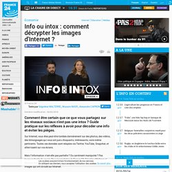Info ou intox : comment décrypter les images d'Internet?