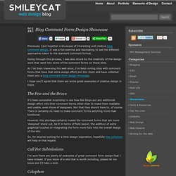 Blog Comment Form Design Showcase