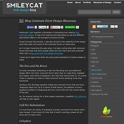 Blog Comment Form Design Showcase