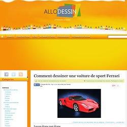 Comment dessiner une voiture de sport Ferrari