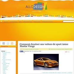 Comment dessiner une voiture de sport Aston Martin Virage