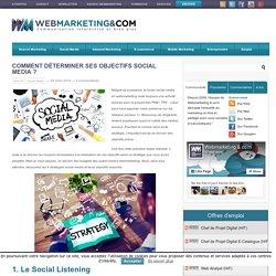 Comment déterminer ses objectifs Social Media