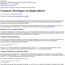 Comment développer un plugin jQuery
