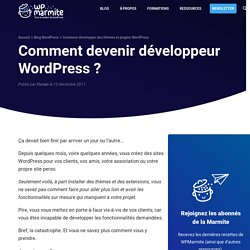 Comment devenir un développeur WordPress en 5 étapes