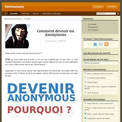 Comment devenir un Anonymous