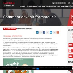 Comment devenir formateur ? -