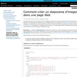 Comment créer un diaporama d'images dans une pageWeb (Internet Explorer)