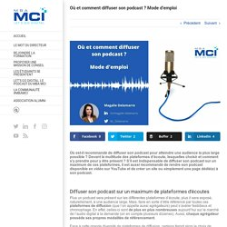 Où et comment diffuser son podcast ? Mode d'emploi - Blog MBA MCI