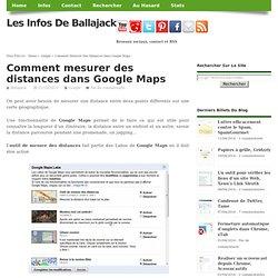 Comment mesurer des distances dans Google Maps